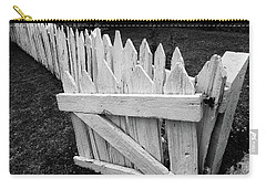 Carry-all Pouch featuring the photograph Pickett Fence by Jim Mathis