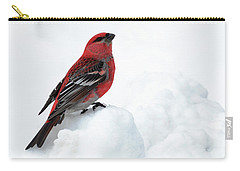 Pine Grosbeak In The Snow Carry-all Pouch