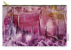 Pink Abstract Castles Carry-all Pouch