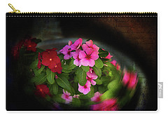 Carry-all Pouch featuring the photograph Pink And Red by Milena Ilieva