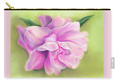 Carry-all Pouch featuring the pastel Pink Camellia With Leaves by MM Anderson