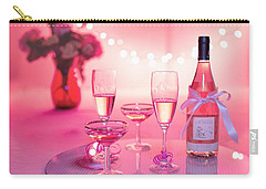 Carry-all Pouch featuring the photograph Pink Champagne by Top Wallpapers
