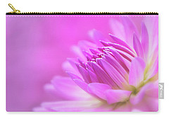 Carry-all Pouch featuring the photograph Pink Dahlia Dreams by Mary Jo Allen