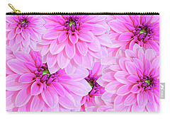 Pink Dahlia Flower Design Carry-all Pouch