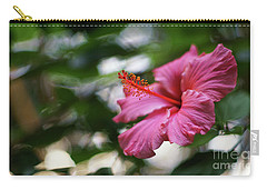 Carry-all Pouch featuring the photograph Pink Hibiscus Flower by Pablo Avanzini