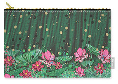 Pink Lilies Digital Change2 Carry-all Pouch
