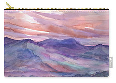 Pink Mountain Landscape Carry-all Pouch
