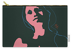 Carry-all Pouch featuring the digital art Pink Nude by Attila Meszlenyi