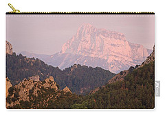 Carry-all Pouch featuring the photograph Pink Pena Montanesa by Stephen Taylor