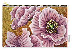 Carry-all Pouch featuring the painting Pink Ponderings by Amy E Fraser