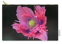 Carry-all Pouch featuring the photograph Pink Poppy by Dale Kincaid