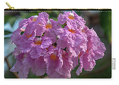 Carry-all Pouch featuring the photograph Pink Trumpet Tree, Rosy Trumpet Tree Or Pink Poui Dthn0257 by Gerry Gantt