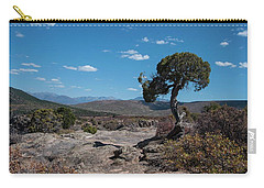 Pinyon Pine With North Rim In Background Black Canyon Of The Gunnison Carry-all Pouch