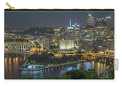 Carry-all Pouch featuring the photograph Pittsburgh Lights by David R Robinson