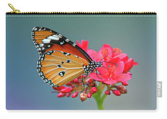 Carry-all Pouch featuring the photograph Plain Tiger Or African Monarch Butterfly Dthn0246 by Gerry Gantt