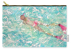 Carry-all Pouch featuring the painting Playful by Eva Konya