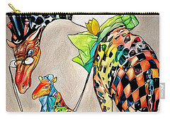 Carry-all Pouch featuring the digital art Playing Dress Up by Pennie McCracken