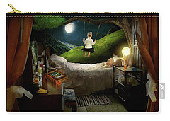 Carry-all Pouch featuring the photograph Playing Inside by Mike Savad - Abbie Shores