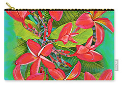 Plumeria Sunburst Carry-all Pouch