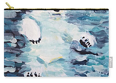 Carry-all Pouch featuring the painting Polar Bear by Maria Langgle