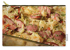 Carry-all Pouch featuring the photograph Polish Kielbasa Cuisine by Angie Tirado