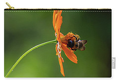 Carry-all Pouch featuring the photograph Pollinating The Cosmos by Dale Kincaid