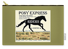 Pony Express Want Ad Carry-all Pouch
