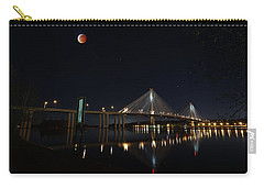 Port Mann Bridge With Blood Moon Carry-all Pouch
