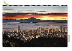 Portland Foggy Sunrise Carry-all Pouch