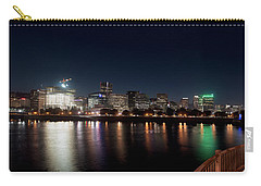 Carry-all Pouch featuring the photograph Portland Oregon Skyline 102118 by Rospotte Photography