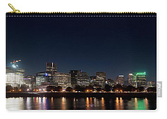 Carry-all Pouch featuring the photograph Portland Oregon Skyline V2 by Rospotte Photography
