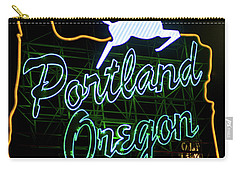 Carry-all Pouch featuring the photograph Portland White Stag Sign 102518 by Rospotte Photography