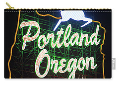 Carry-all Pouch featuring the photograph Portland Whitestag Neon Gold 119 by Rospotte Photography