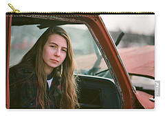 Carry-all Pouch featuring the photograph Portrait In A Truck by Carl Young