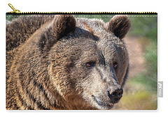 Portrait Of A Female Grizzly Bear Carry-all Pouch