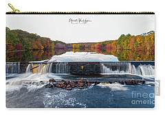 Carry-all Pouch featuring the photograph Power Of The Shetucket by Michael Hughes