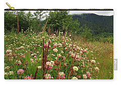 Pretty Pink Fields Carry-all Pouch
