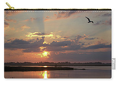 Carry-all Pouch featuring the photograph Prime Hook Sunrise 2 by Buddy Scott