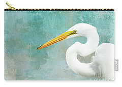 Protrait Of A Great Egret Carry-all Pouch