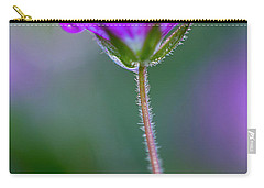 Carry-all Pouch featuring the photograph Purple Flower by John Rodrigues