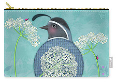 Q Is For Quail And Queen Anne's Lace Carry-all Pouch
