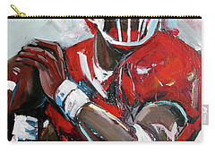 Carry-all Pouch featuring the painting Quarterback by John Jr Gholson