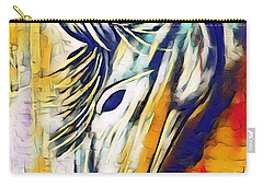 Carry-all Pouch featuring the mixed media Quiet Strength by Jessica Eli