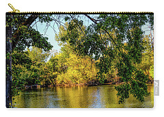 Carry-all Pouch featuring the photograph Quite Idaho Evening On The Boise River by Jon Burch Photography