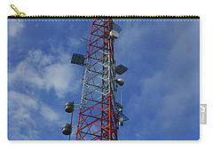 Carry-all Pouch featuring the photograph Radio Tower On Mount Greylock by Raymond Salani III
