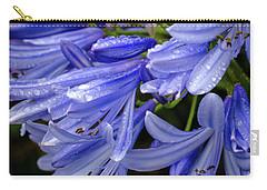 Rain Drops On Blue Flower II Carry-all Pouch