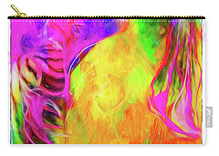 Rainbow Blossom Carry-all Pouch