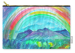 Carry-all Pouch featuring the painting Rainbow by Dobrotsvet Art