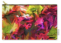 Rainbow Flower Rhapsody In Pink And Purple Carry-all Pouch