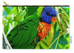 Carry-all Pouch featuring the photograph Rainbow Lorikeet by Dan Miller